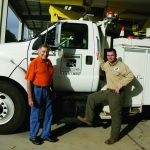 Baldwin EMC retiree Frankie Kucera sits down with employee Chase Waddle