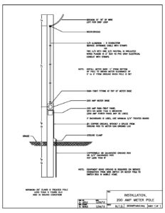 200 amp residential service wiring diagram 200 amp meter pole installation     baldwin emc  200 amp meter pole installation