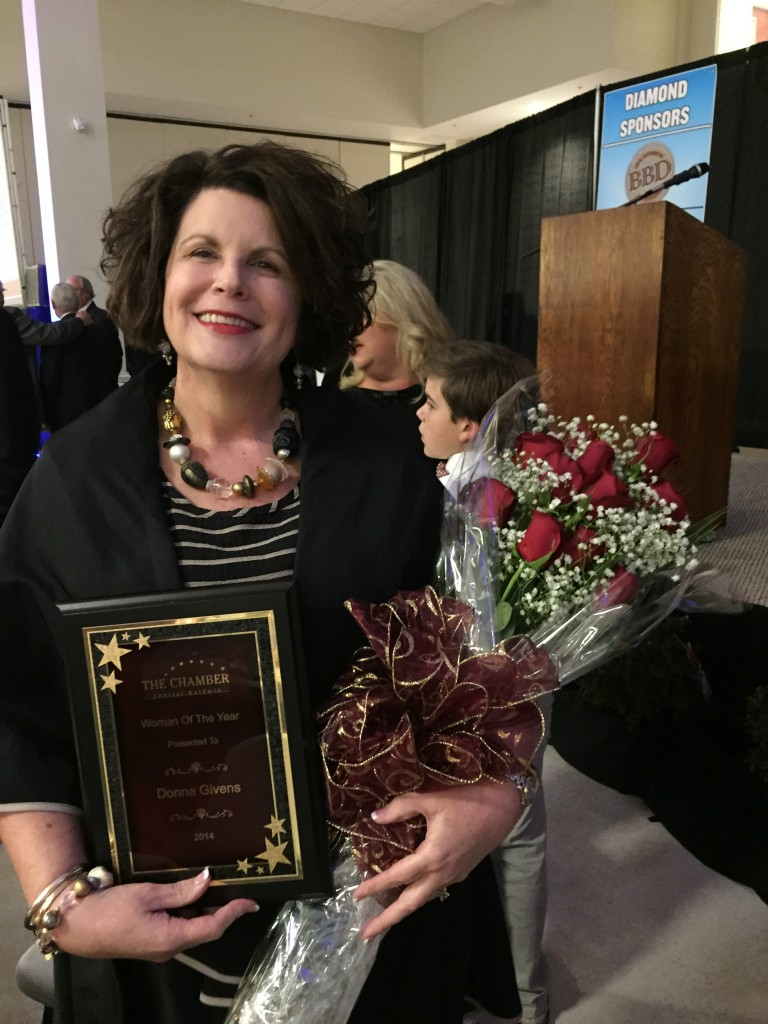 Donna Givens CB Chamber Woman of the Year