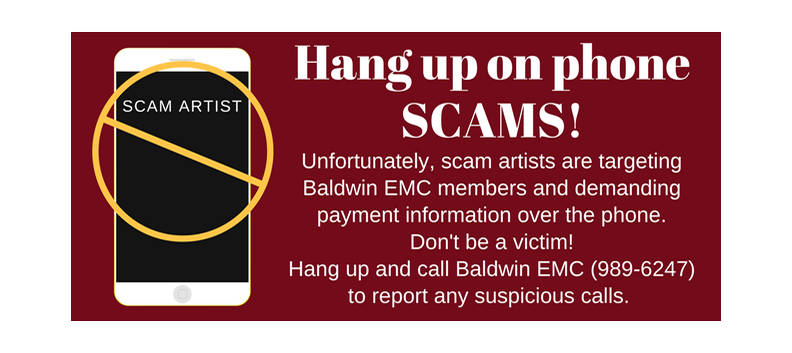 Hang up on SCAMS! b