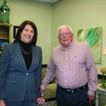 Baldwin EMC retiree Elmer McDaniel sits down with CEO Karen Moore